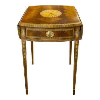 Traditional Councill Inlaid Pembroke Table For Sale