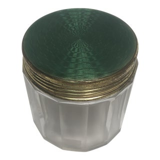Guilloche Top Dresser Jar For Sale