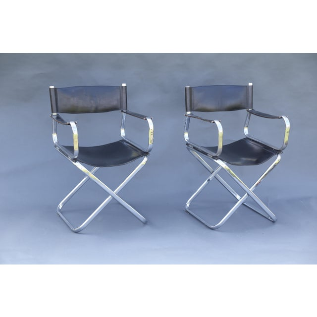 Arrben Italian Leather & Chrome Chairs - A Pair - Image 2 of 10