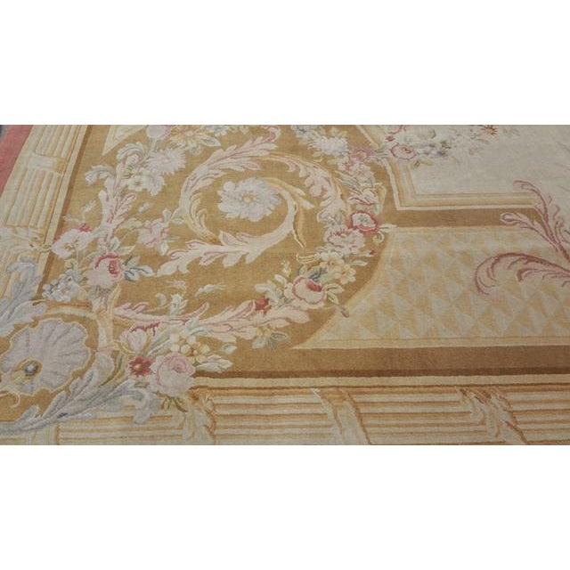 14'x19' Aubusson Design Hand Made Knotted Rug - Size Cat. 12x18 13x20 - Image 7 of 12
