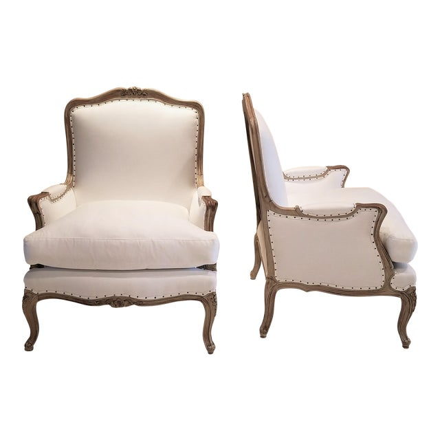19th C Louis XV Bergeres Pair For Sale