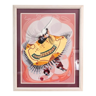 """1980s Richard Red Owl Signed and Numbered Print, """"The Robe Maker"""" For Sale"""