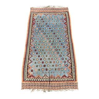 """19th Century Shiraz Kilim Rug - 5' x 9'6"""""""