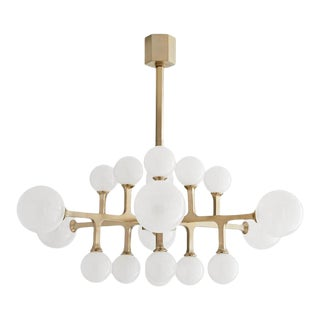 Vintage Glass Globe Branch Tricia Chandelier in Led Lamp For Sale