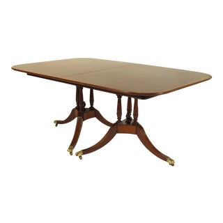 20th Century Regency Style Inlaid Dining Table