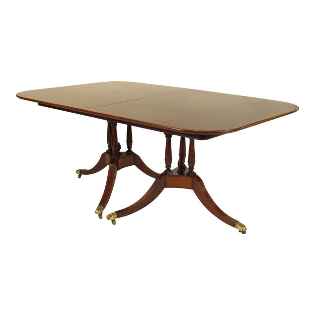 20th Century Regency Style Inlaid Dining Table For Sale