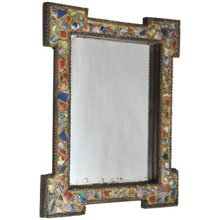 Late 19th Century Antique German Memory Mirror For Sale