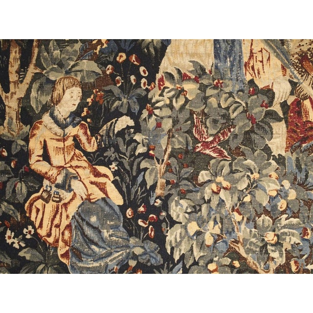 Medieval Style Tapestry from France, 20th Century For Sale - Image 10 of 12