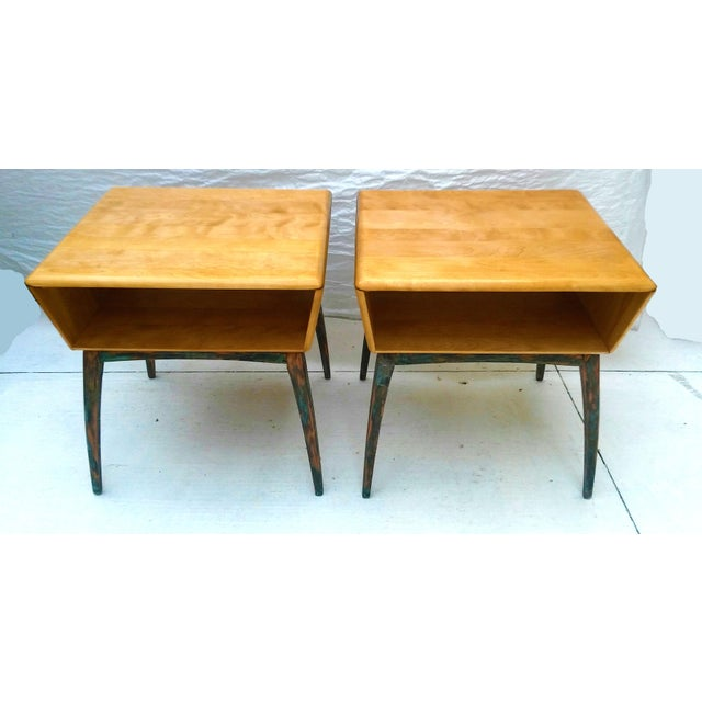 Heywood-Wakefield Side Tables - A Pair - Image 2 of 10