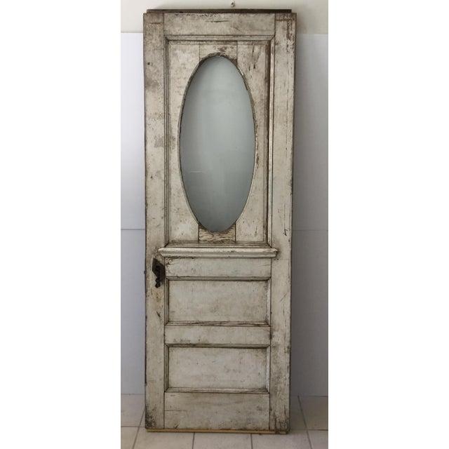 Antique Beveled Glass & Wooden Door - Image 2 of 10