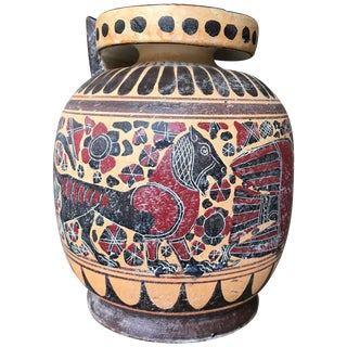 Classical Style Ceramic Greek Vase For Sale
