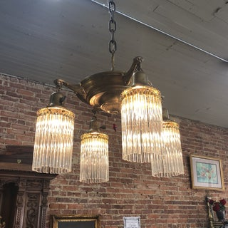 1920s Pan Light Chandelier With Shower Shades Preview
