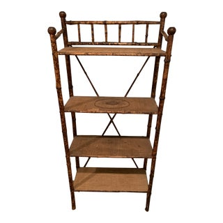 Antique Chinese Bamboo Bookshelf For Sale