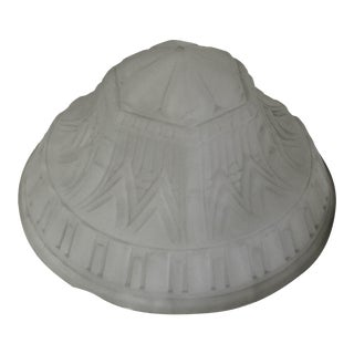 1990s Art Deco Frosted French Glass Shade For Sale