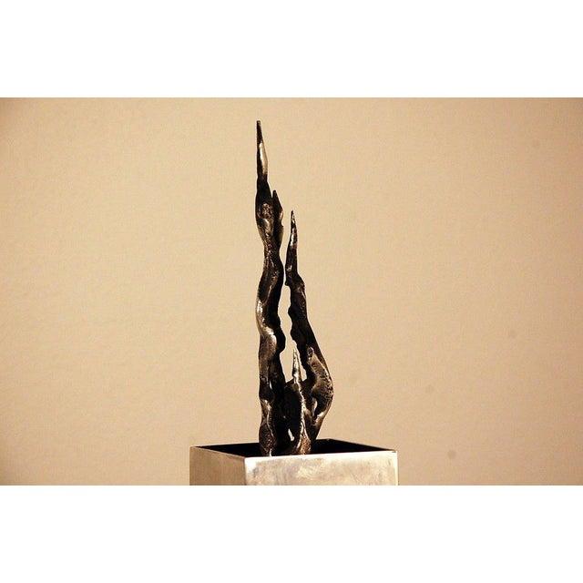 Brutalist 1970s Tall Brutalist Sculpture For Sale - Image 3 of 7