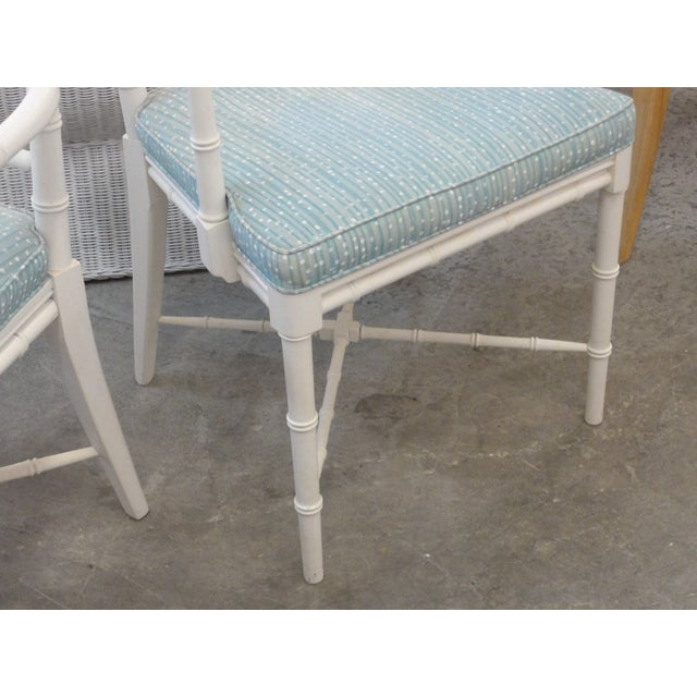 Palm Beach Faux Bamboo Arm Chairs - a Pair For Sale - Image 4 of 10