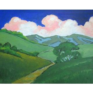 Contemporary Sonoma California Eucalyptus Landscape Painting For Sale