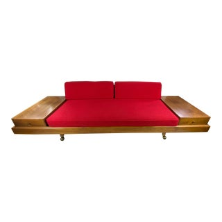 Mid-Century Platform Sofa Attributed to Adrian Pearsall For Sale
