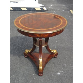Traditional Theodore Alexander Althorp Round Mahogany Occasional Table Preview