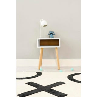 Minimo Modern Kids Nightstand in White & Solid Maple Preview