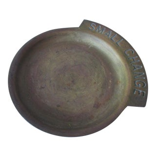 Brass Pocket Change Tray Dish