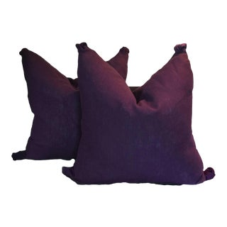 Purple Plum Pillows - a Pair For Sale