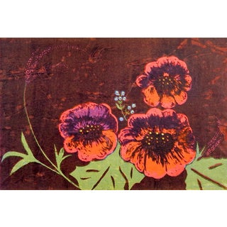 Bold Floral Serigraph For Sale
