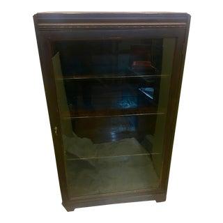 Vintage Mahogany Book Shelf Cabinet For Sale