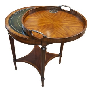 Maitland Smith Round Occasional Tray Table