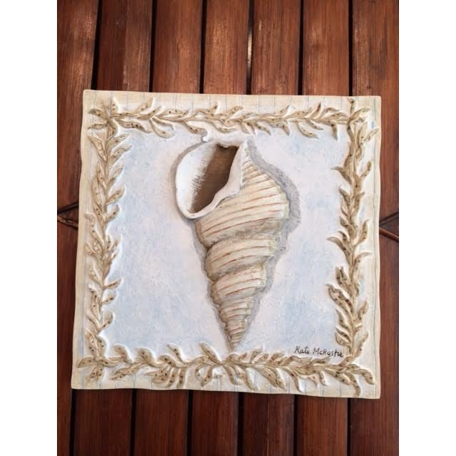Kate McRostie Shell Wall Plaques - Set of 4 For Sale - Image 4 of 6
