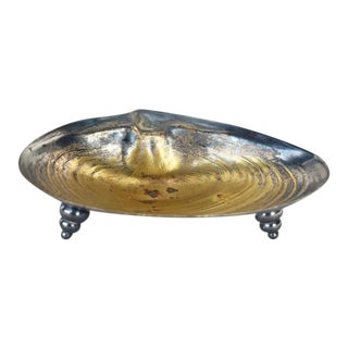 1980s Vintage Silverplated Clam Shell Soap Dish For Sale