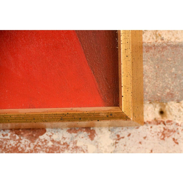 Antonio Guanse 'Abstract Face by the Window' Oil Painting -1960s For Sale - Image 9 of 10