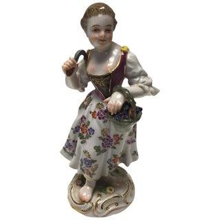 Meissen Kaendler Figure of a Female Gardner, 20th Century For Sale