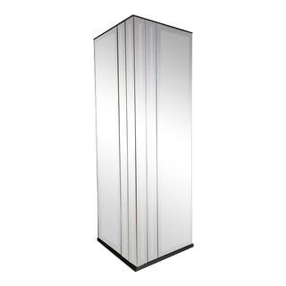 Vintage Mid Century Modern Tall Mirrored Pedestal