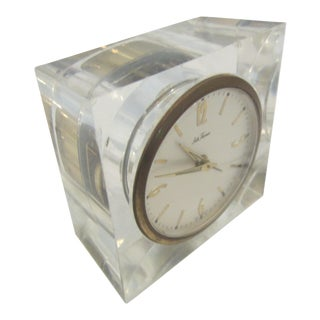 Mid Century Side Table Lucite Alarm Clock