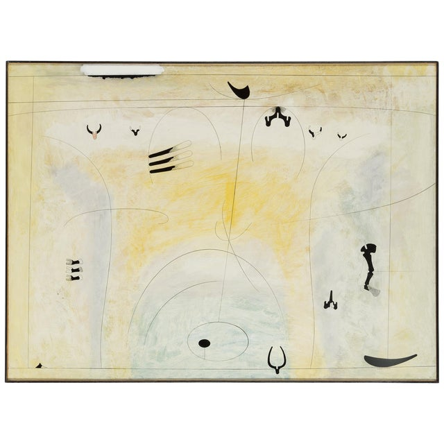 Albert Johansson, Mixed-Media on Canvas, Sweden, 1983 For Sale