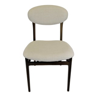 Upholstered Wooden Modern Dining Chair, Made in Italy. For Sale