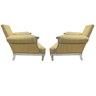 Important Pair of Modern Neoclassical Louis XVI Armchairs by Maison Jansen