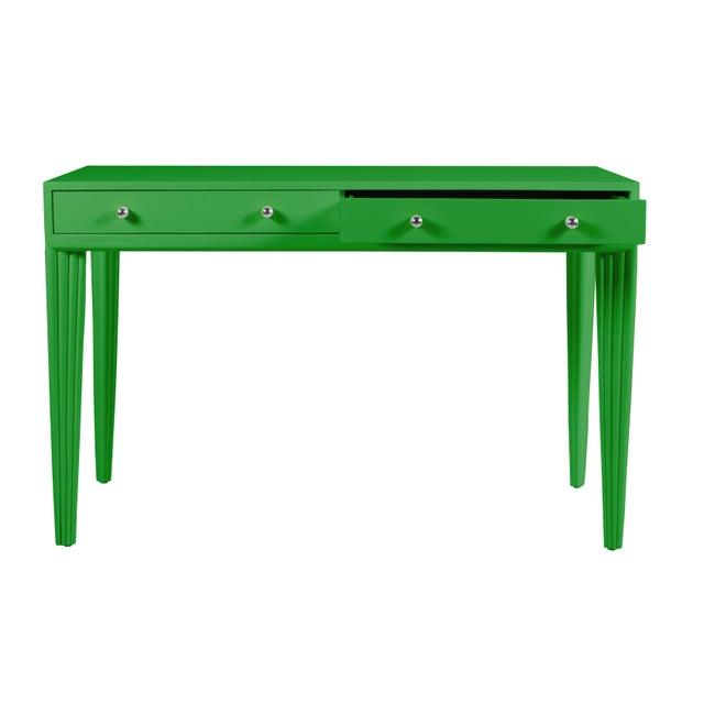 Contemporary Barcelona Desk - Bright Green For Sale - Image 3 of 6