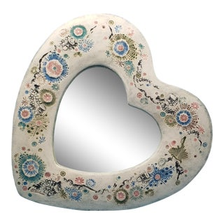 Ec Brinkman Hearted Shaped Mirror For Sale
