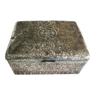 Antique Silver Cigar Box, Humidor