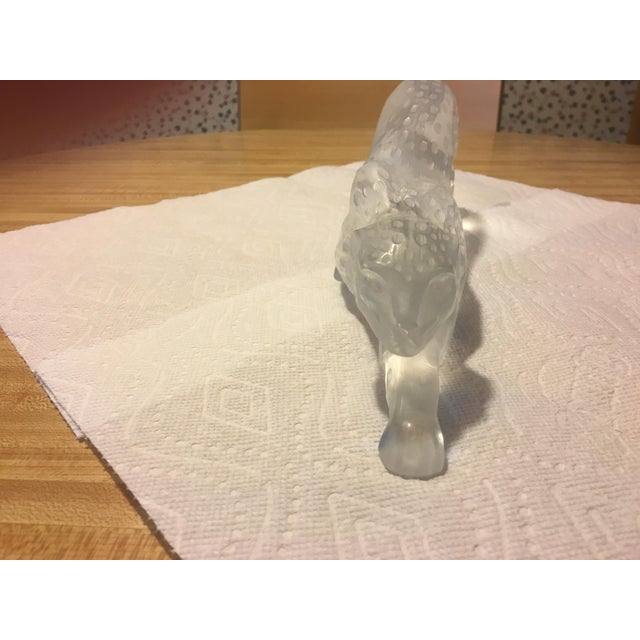 Lalique 1970s Contemporary Lalique Crystal Panther Sculpture For Sale - Image 4 of 8
