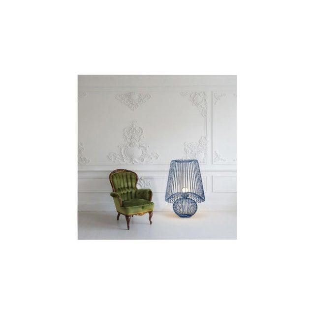 Oversized Metal Floor Lamp Koy in Blue For Sale - Image 4 of 5