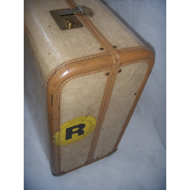Mid Century Penney's Towncraft Vinyl Suitcase For Sale - Image 7 of 10