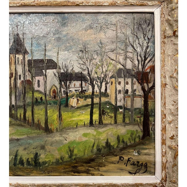Early 20th Century Early 20th Century French Oil on Canvas Painting Signed P. Farge For Sale - Image 5 of 13