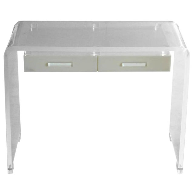 Lucite Waterfall Desk or Vanity For Sale