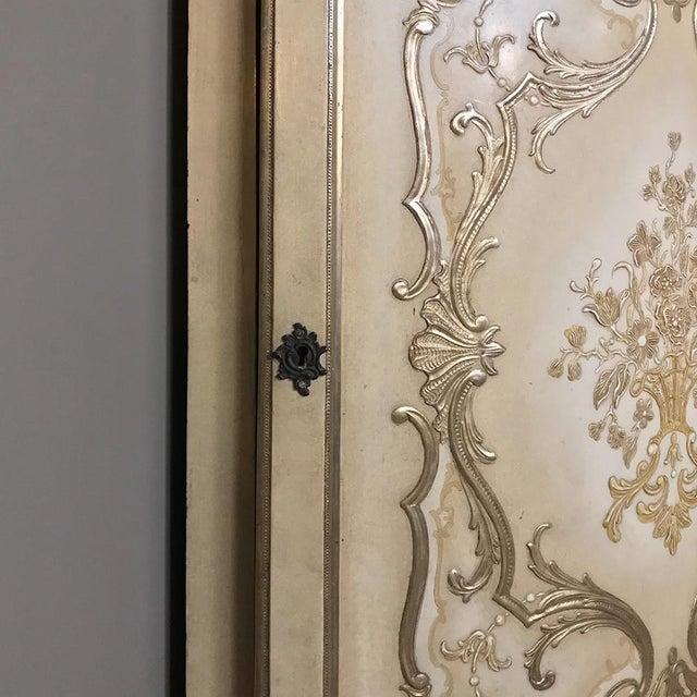 Antique Italian Baroque Painted Corner Cabinet For Sale In Dallas - Image 6 of 12