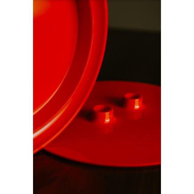 Mid 20th Century Vintage Mid-Century Massimo Vignelli Heller Plate Storage Container For Sale - Image 5 of 10