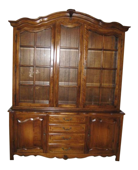 Charmant Ethan Allen Country French 2 Piece Lighted China Cabinet