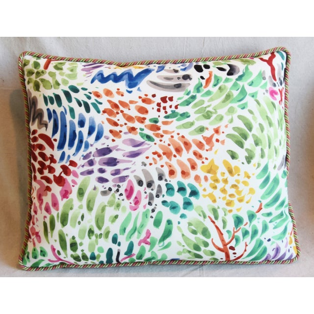 """Adirondack Clarence House Fabric and Scalamandre Mohair Feather/Down Pillows 23"""" X 19"""" - Pair For Sale - Image 3 of 13"""